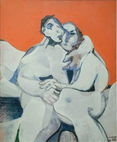 Jean Georges Chape The Lovers Oil on Canvas by Jean Georges Chape - 652182
