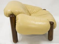 Jean Gillon Pair of armchairs in wood and leather by Jean Gillon circa 1970 - 1060849