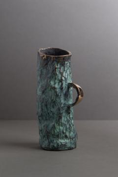 Jean Grisoni Jean Grisoni Bronze Aqua Vase - 1552827
