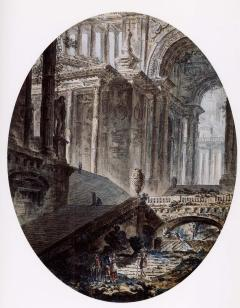 Jean Henri Alexandre Pernet Architectural Fantasies with Figures - 1000574