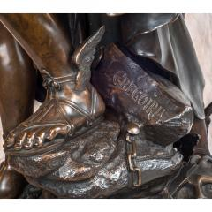 Jean L on Gr goire A Fine Quality Patinated Bronze Sculpture Depicting Perseus Freeing Andromeda - 1468593