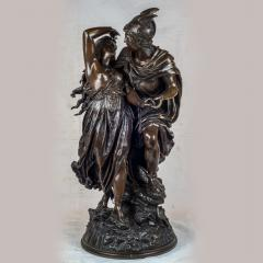 Jean L on Gr goire A Fine Quality Patinated Bronze Sculpture Depicting Perseus Freeing Andromeda - 1468595