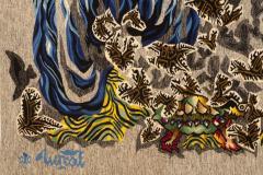 Jean Lurc at Tapisserie de Jean Lur at P ques 1962 Atelier Goubely - 2129620