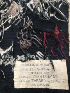Jean Lurcat Amazing Tapestry by Jean Lur at Midnight Sun Soleil de Minuit wool France - 2129540