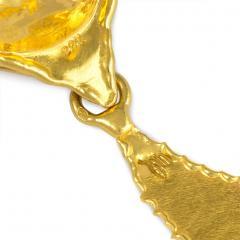 Jean Mahie Jean Mahie 1970s Gold Day to Night Earrings with Teardrop Shaped Pendants - 1372511