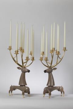 Jean Marie Fiori Deer Candelabra - 1722211