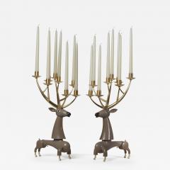 Jean Marie Fiori Deer Candelabra - 1724151