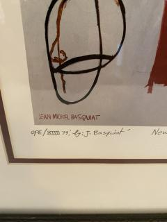 Jean Michel Basquiat Americn Abstract Expressionist Lithograph Untitled XVl Jean Michel Basquiat - 1886829