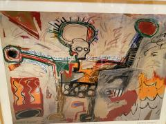 Jean Michel Basquiat Americn Abstract Expressionist Lithograph Untitled Xll Jean Michel Basquiat - 1886794