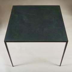 Jean Michel Frank 1938 iron and leather bridge games table by Jean Michel Frank - 1894858