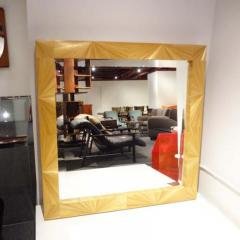 Jean Michel Frank A Large Wall Mirror in Straw Marquetry in the style of Jean Michel Frank - 254999