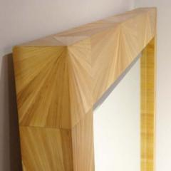 Jean Michel Frank A Large Wall Mirror in Straw Marquetry in the style of Jean Michel Frank - 255002
