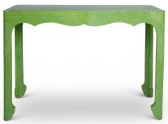 Jean Michel Frank Chinoiserie Console Wrapped in Faux Crocodile - 1085447