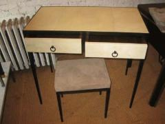 Jean Michel Frank French Mid Century Style Parchment Covered Vanity Desk Jean Michel Frank Style - 1787139