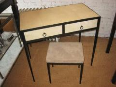 Jean Michel Frank French Mid Century Style Parchment Covered Vanity Desk Jean Michel Frank Style - 1787140