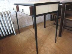 Jean Michel Frank French Mid Century Style Parchment Covered Vanity Desk Jean Michel Frank Style - 1787142