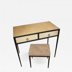 Jean Michel Frank French Mid Century Style Parchment Covered Vanity Desk Jean Michel Frank Style - 1791307