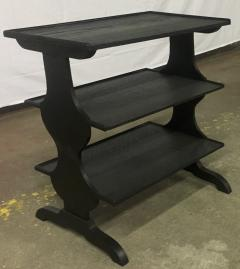 Jean Michel Frank J M Frank attributed Rare Pair of Black 3 Tier Side Tables - 441854