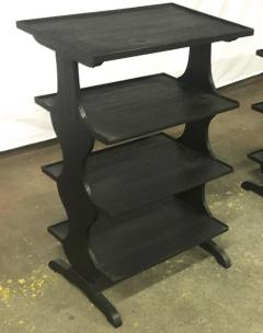 Jean Michel Frank J M Frank attributed Rare pairPof Black 4 Tier Side Tables - 441960