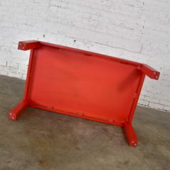Jean Michel Frank Mcm chinese red painted rectangle parsons coffee table - 1900230