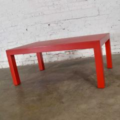 Jean Michel Frank Mcm chinese red painted rectangle parsons coffee table - 1900234