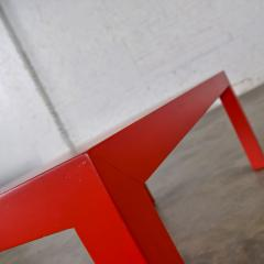Jean Michel Frank Mcm chinese red painted rectangle parsons coffee table - 1900238