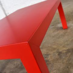Jean Michel Frank Mcm chinese red painted rectangle parsons coffee table - 1900245