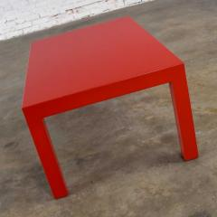 Jean Michel Frank Mcm chinese red painted rectangle parsons coffee table - 1900262