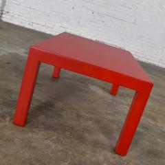 Jean Michel Frank Mcm chinese red painted rectangle parsons coffee table - 1900274