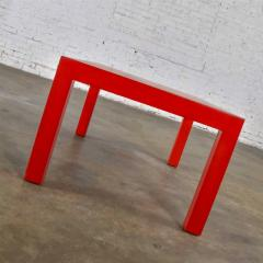 Jean Michel Frank Mcm chinese red painted rectangle parsons coffee table - 1900295