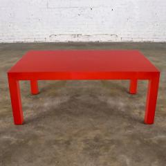 Jean Michel Frank Mcm chinese red painted rectangle parsons coffee table - 1900297
