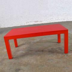 Jean Michel Frank Mcm chinese red painted rectangle parsons coffee table - 1900309