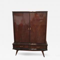 Jean Michel Frank Mid Century Modern Argentine Newly Refinished Lignum Vitae Bar Cabinet - 333602