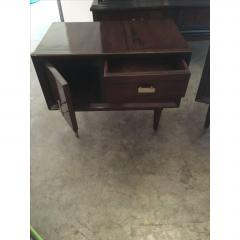 Jean Michel Frank Pair of Argentine Jean Michel Frank for Comte Attributed Walnut Bedside Cabinets - 317526