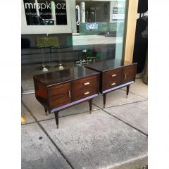 Jean Michel Frank Pair of Argentine Jean Michel Frank for Comte Attributed Walnut Bedside Cabinets - 317528