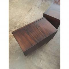 Jean Michel Frank Pair of Argentine Jean Michel Frank for Comte Attributed Walnut Bedside Cabinets - 317529