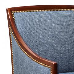 Jean Michel Frank Pair of Armchairs in Mahogany Attributed to Jean Michel Frank - 569392