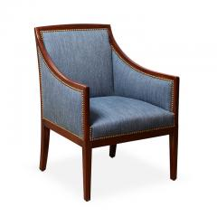 Jean Michel Frank Pair of Armchairs in Mahogany Attributed to Jean Michel Frank - 569393