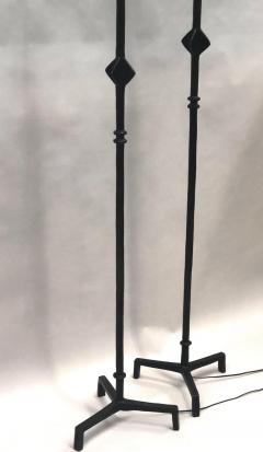 Jean Michel Frank Pair of French Bronze Star Floor Lamps after Giacometti Jean Michel Frank - 1695953