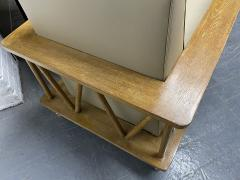 Jean Michel Frank Pair of French Cerused Oak Lounge Chairs in the Style of Jean Michel Frank - 1935063
