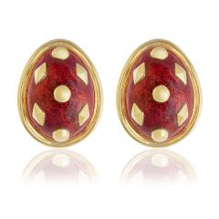 Jean Michel Schlumberger Schlumberger Dot Lozenge enamel earrings - 809747