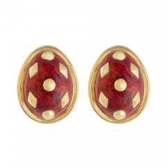 Jean Michel Schlumberger Schlumberger Dot Lozenge enamel earrings - 810876