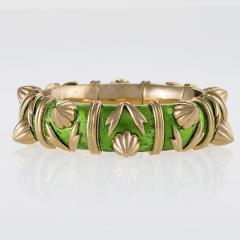 Jean Michel Schlumberger Schlumberger Gold and Paillone Enamel Bangle Bracelet - 469506