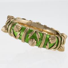 Jean Michel Schlumberger Schlumberger Gold and Paillone Enamel Bangle Bracelet - 469507