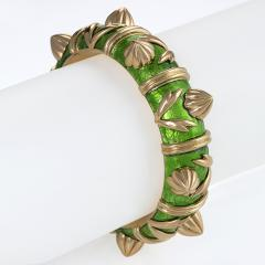 Jean Michel Schlumberger Schlumberger Gold and Paillone Enamel Bangle Bracelet - 469508