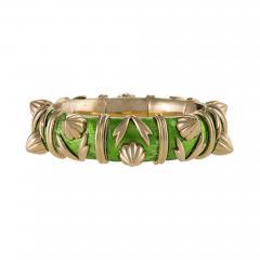Jean Michel Schlumberger Schlumberger Gold and Paillone Enamel Bangle Bracelet - 470326