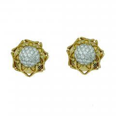 Jean Michel Schlumberger Schlumberger Yellow Gold Diamond Earrings - 691383