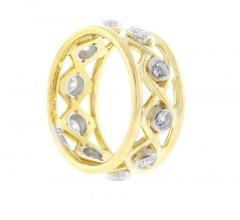 Jean Michel Schlumberger Schlumberger for Tiffany Co Diamond X Ring - 1095190