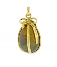 Jean Michel Schlumberger Schlumberger for Tiffany Co Large Tigers Eye Egg Charm - 1159727