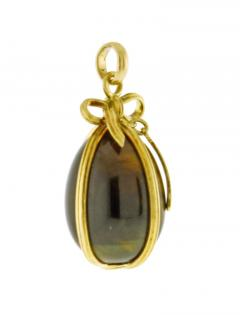 Jean Michel Schlumberger Schlumberger for Tiffany Co Large Tigers Eye Egg Charm - 1159728